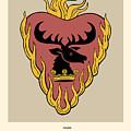 Game Of Thrones Poster House Baratheon Of Dragonstone Sigil by Florian Rodarte