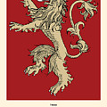 Game Of Thrones Poster House Lannister Sigil by Florian Rodarte