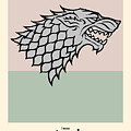 Game Of Thrones Poster House Stark Sigil by Florian Rodarte