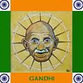 Gandhi Portrait by Paul Helm
