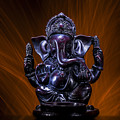 Ganesha With Fire Background by Pelo Blanco Photo