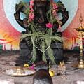 Ganesha With Pink Flowers, Valparai by Jennifer Mazzucco