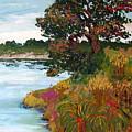 Ganges Tree by Art Nomad Sandra  Hansen