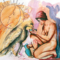 Ganymede And Zeus by Rene Capone