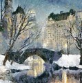 Gapstow Bridge In Snow by Dragica  Micki Fortuna