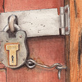 Garage Lock Number Four by Ken Powers