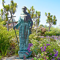 Garden At Carmel Mission-california by Ruth Hager