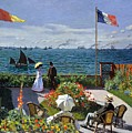 Garden At Sainte Adresse By Claude Monet by Claude Monet