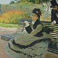 Garden Bench by Camille Monet