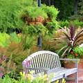 Garden Benches 5 by Jeelan Clark