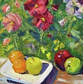 Garden Fruit And Flowers by Paula Stern