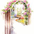 Garden Gate Botanical Landscape by Karla Beatty