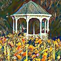 Garden Gazebo Watercolor by Bill Cannon