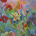 Garden Of Intention - Triptych Center Panel by Shadia Derbyshire
