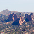 Garden Of The Gods And Colorado Springs by Steve Krull