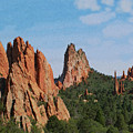 Garden Of The Gods Colorado De  by Ernie Echols