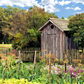 Garden Outhouse At Old World Wisconsin by Christopher Arndt