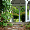 Garden Path And Gazebo by Todd Blanchard