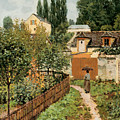 Garden Path In Louveciennes by Alfred Sisley