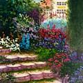 Garden Steps by Jeanene Stein