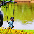 Garden Swing By The River by Don Baker