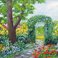 Garden With Sunflowers by Lois Mountz