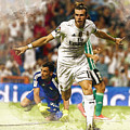 Gareth Bale Celebrates His Goal  by Don Kuing