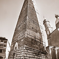 Garisenda Tower In Bologna by Luca Lorenzelli