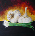 Garlic And Onion by Monika Shepherdson
