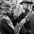 Gary Cooper Getting A Medal Of Honor As Sergeant York 1941 by David Lee Guss