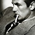 Gary Cooper Smoking C.1935 by David Lee Guss