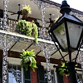 Gas Lamp And Balcony by C Thomas Cooney