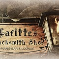 Gas Light At Lafitte's Blacksmith Shop by Toni Abdnour