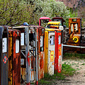 Gas Pump Conga Line In New Mexico by Catherine Sherman