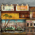 Gas Station - Dreaming Of Summer 1937 by Mike Savad