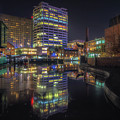 Gas Street Basin At Night by Chris Fletcher