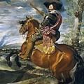 Gaspar De Guzmn Conde-duque De Olivares A Caballo Diego Rodriguez De Silva Y Velazquez by Eloisa Mannion