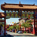 Gate Of Harmonious Interest - Chinatown - Victoria British Columbia by Peggy Collins