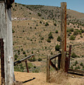 Gate Out Of Virginia City Nv Cemetery by LeeAnn McLaneGoetz McLaneGoetzStudioLLCcom