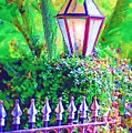 Gate With Lantern by Donna Bentley