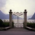 Gates At Lake Lugano by Sheri Schwed