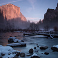 Gates Of The Valley In Winter by John and Nicolle Hearne