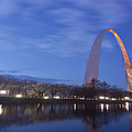 Gateway Arch At Dawn Panoramic by Sven Brogren