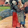 Gauguin: Breton Women, 1894 by Granger