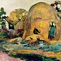 Gauguin: Haystacks, 1889 by Granger
