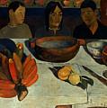 Gauguin: Meal, 1891 by Granger