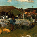 Gauguin: Swineherd, 1888 by Granger