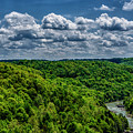 Gauley River Canyon And Clouds by Thomas R Fletcher