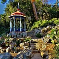 Gazebo And Garden  On A Hillside  by Rick Todaro
