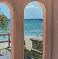 Gazebo At Blue Mountain Beach by John Terry